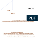 GRE Math Practice Test 19