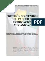 Gestión Sostenible Del Taller de Fabricación Mecánica