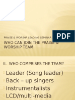 Who Can Join the Praise Worship Team
