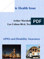 Public Health Issue By Arthur Marshall