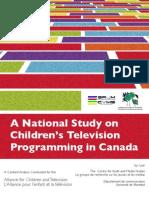 Canadian National Study on Kids TV