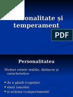 Personalitate Si Temperament