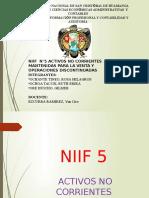 DIAPOSITIVA DE LA NIIF N°05