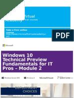 Windows 10 TechPreview Module 2