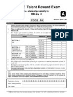 FTRE 2013 Previous Year Question Paper for Class 8
