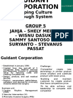 Group 5 Guidant Corporation Shaping Culture Through Systems