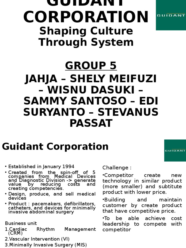 guidant corporation case study