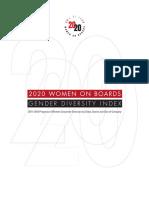 2020GDI-2013Report Women on Boards