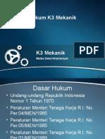 01B. Dasar Hukum K3 Mekanik