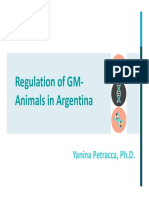 Regulation of GM Animals in Argentina (Yanina Petracca)