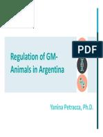 Regulation of GM Animals in Argentina (Yanina Petracca)