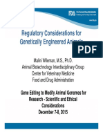 Regulatory Considerations for Genetically Engineered Animals (Malini Wileman - US FDA)