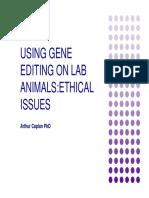 Using Gene Editing on Lab Animals