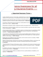 Insurance Awareness Questions by AffairsCloud