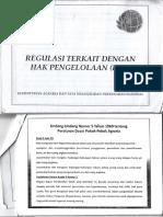 Regulasi Terkait Dengan Hak Pengelolaan (HPL)