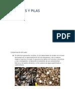 Contaminación de pilas y baterias