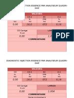 Diagnostic Injection Essence Par Analyseur Quadri-gaz
