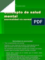 1ª Clase Concepto de Salud Mental
