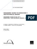 Designers' Guide to Eurocode 7 Geothechnical Design