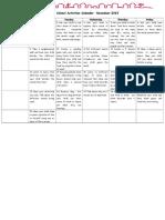 5 Senses Home School Activities Calendar