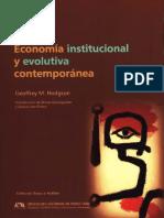 Economía Institucional y Evolutiva Contemporánea - Hodgson