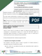 Actividad 4 - Registros de Un Sistema de Gestion de Calidad