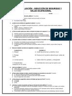 Examen Inducción- Ferrosalt 2015