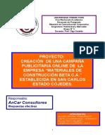 Campaña Publicitaria Online de la empresa Materiales de Construcción Beta C.A. establecida en San Carlos Estado Cojedes-Venezuela