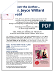 Dr Joyce w Teal - Meet the Author @ Dallas African Amer Museum - Dec 21 2105