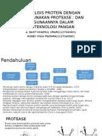 Hidrolisis Protein Dengan Menggunakan Protease