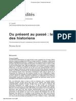 Du Présent Au Passé_ Le Temps Des Historiens