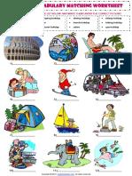 Types of Holidays Vocabulary Matching Exercise Worksheet