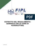 Estratto Del Reg. Gen. Delle Gare Di Pl Agg.gennaio-2015