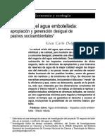 Gian Carlo Delgado Ramos. El Negocio Del Agua Embotellada. Realidad Económica. Enero-Febrero 2014