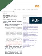 Ccna1 Final Exam v5.1 Ccna v5