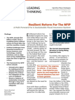 Resilient Reform For The NFIP