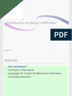 Introduction to Design Verification