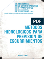 Métodos Hidrológicos Para Previsión de Escurrimientos (2)