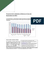 El Precio de La Vivienda en Dénia en El Mes de Noviembre de 2015
