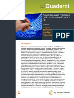 Natural Language Processing (NLP) e Information Extraction (IE)