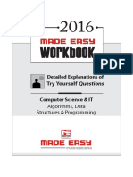 Algorithms Workbook GATE CSE MADE EASY
