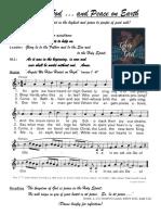 Glory to God, Peace -- Christmas Prayer Service 2015