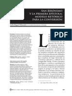 San Jerónimo y La Primera Epístola, Modelo Retórico Para La Conversión (Lidia R. Miranda)
