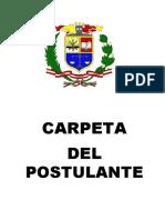 Carpeta Postulante EO-PNP-2016