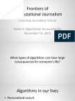 Algorithmic Accountability. Computational Journalism week 9