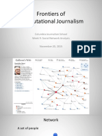 Social Network Analysis. Computational Journalism week 10