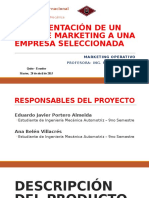 Marketing Operativo - Plan de Marketing (PARTE 1 y 2) (Descripción, Entornos e IM)
