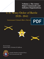 U.S. Army Order of Battle, 1919-1941, Volume 1. the Arms Major Commands and Infantry Organizations, 1919-41.