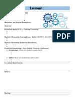 digital citizenship lesson planning framework revised
