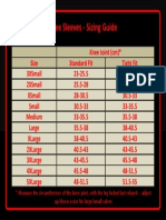 Knee Sleeve Size Chart 2014